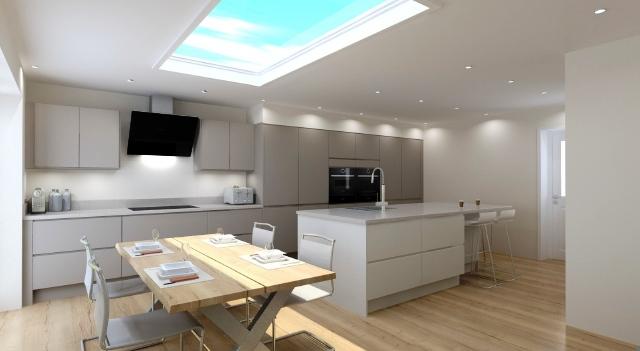 Kitchen design Long Eaton, Nottingham Modern kitchen with island seating