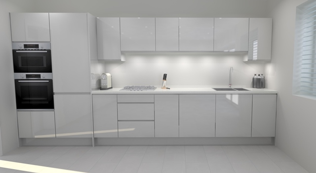 Modern kitchen design with double oven in Long Eaton, Nottingham