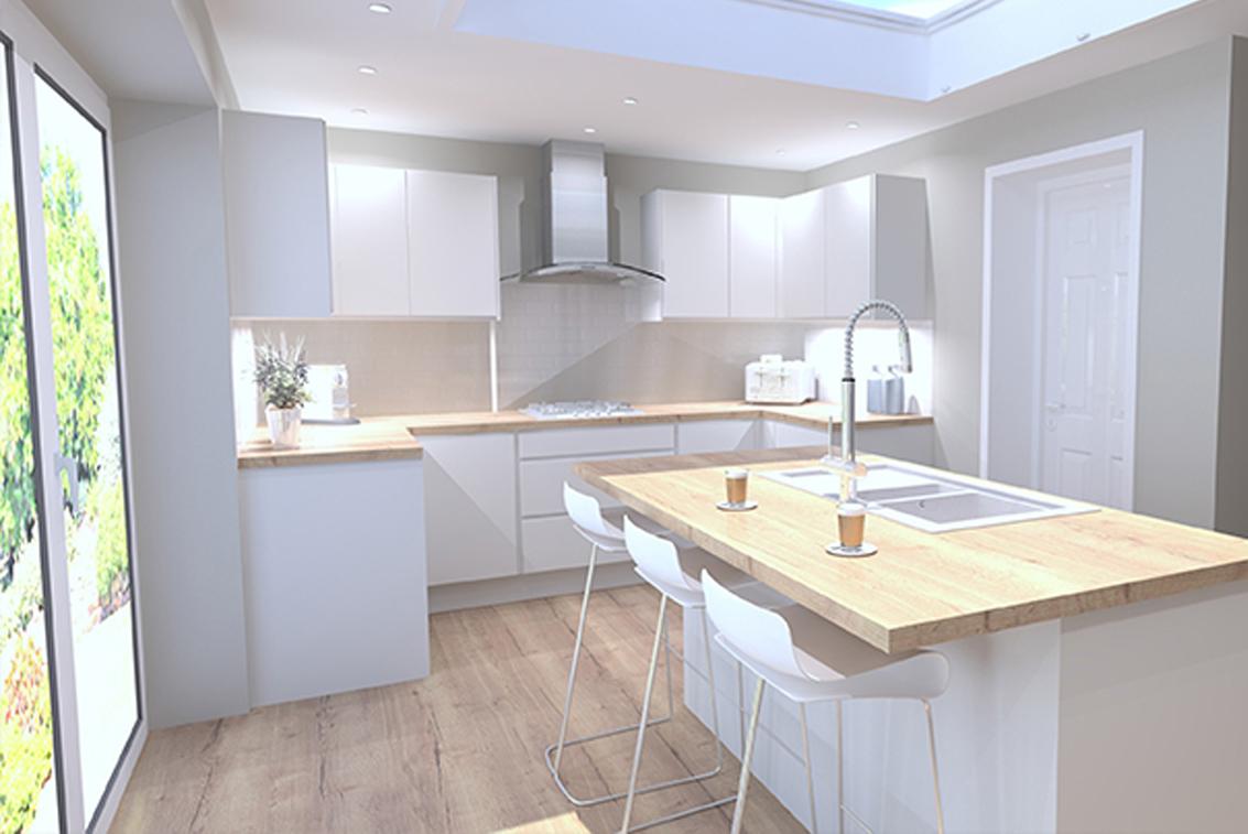 Kitchen - timber worktops - Long Eaton