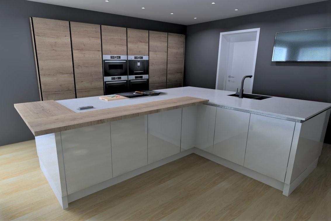 New designer kitchen Long Eaton